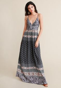 Soho Printed Maxi Dress - Dresses - Clothing | ThreadSence