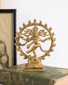 Vintage Brass Shiva Nataraja Statue Lord of Dance Hand Drum, Nataraja, Dramatic Arts, Brass Statues, Hindu Art, Religious Art, Hamsa, Shiva, Lord