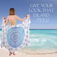 LAID BACK & RELAXED – The natural rayon material and gorgeous, colorful designs create a relaxed elegance that will make you feel laid-back, bold, and beautiful. Use your sarong as the perfectly versatile vacation accessory or add some unexpected flair to your everyday look.  #beach #summer #fun Creative Words, Creative Art, Mandala Towel, Beach Blanket, Small Shops, Flower Of Life, Swimsuit Cover, Mandala Design, Creative Photography