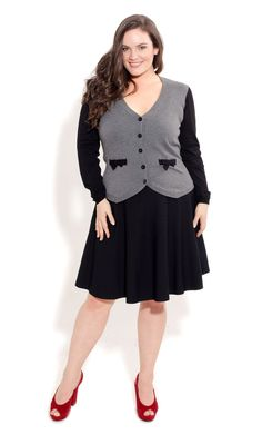 City Chic BOW BABY CARDI. This would be sooooo cute with skinnies and black pumps