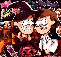 Хеллоуин,Halloween -приколы на хеллоуин - прикольные костюмы, тыквы, шутки и юмор про хелоуин,Gravity Falls,фэндомы,Mabel Pines,GF Персонажи,Dipper Pines,красивые картинки,GF art