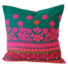 I pinned this Jo Pillow from the Moroccan Flair event at Joss and Main! Color Bordo, India Colors, Vibrant Colors, Textiles, Fuchsia, Bohemian Decor, Boho Chic, Joss And Main, Soft Furnishings