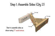 DIY X-Brace Bench Plans - Step 1