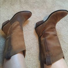 Jessica Simpson Cowboy Boots Tan Jessica Simpson cowboy boots. Super cute and comfortable! Looks great with jeans or dresses! Hardly worn! Jessica Simpson Shoes