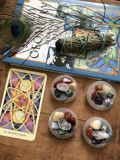 Selenite Bowl with Chakra Stones // Chakra Set // by TheLunarFae