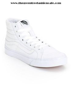 Clearance Sale Sneakers For Women - Vans Sk8-Hi Slim True White Skate Shoes (Womens) -