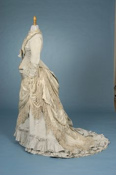 ~Afternoon Dress   c.1878 From Trousseau~