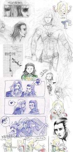 Sketches THORKI by Oak-Deer on DeviantArt