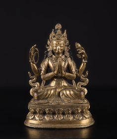 A figure of Avalokitesvara China/Tibet, 18th-19th Century