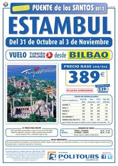 Puente de los Santos ESTAMBUL, sal. 31/10 desde Mad y Bio (4d/3n) desde 539€ - http://zocotours.com/puente-de-los-santos-estambul-sal-3110-desde-mad-y-bio-4d3n-desde-539e/