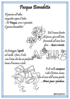 "Poesia "" Pasqua Benedetta"" di Bernardini Happy Fathers Day, Primary School, Fairy Tales, Education, Creative, Desktop, Google, Geography, Teachers"