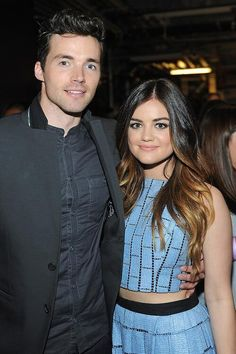 Ian Harding and Lucy Hale #PaleyFest  Ezria PLL