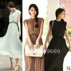 chiffon lady maxi dress