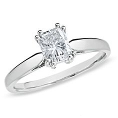 I've tagged a product on Zales: 1 CT. Certified Radiant-Cut Diamond Solitaire Engagement Ring in White Gold Radiant Cut Diamond, Diamond Cuts, Diamond Rings, Diamond Jewelry, Gold Engagement Rings, Wedding Rings, Gold Wedding, Diamond Stores, Schmuck Design