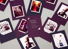 Émilie Bailey business cards by  # #ÉmilieBailey #Photographer #Business Cards