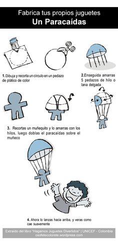 Fabrica tus propios juguetes: Un Paracaídas | Osofete Colorete