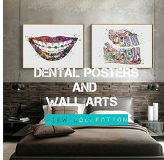Posters for dental office Dental Clinic Logo, Dentist Clinic, Dental Braces, Dental Art, Dental Teeth, Dental Hygienist, Dental Implants, Dental Office Decor, Office Lamp