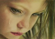 "Sad & Beautiful all at the same time.    Saatchi Online Artist: Brian Scott; Colored Pencils, 2011, Drawing ""Cry"""