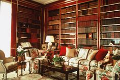 Brooke Astor's library by Albert Hadley