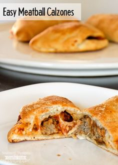 Easy, kid approved recipe for Meatball Calzones. - Easy, kid approved recipe for Meatball Calzones. Meatball Calzone Recipe, Meatball Recipes, Pizza Recipes, Beef Recipes, Cooking Recipes, Recipies, Meatball Pizza, Ground Turkey Calzone Recipe, Fast Recipes