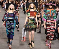 'Seems like the Missoni Spring 2011 collection would like to make us ladies into Tibetan princesses (or perhaps Mexican ones?).'