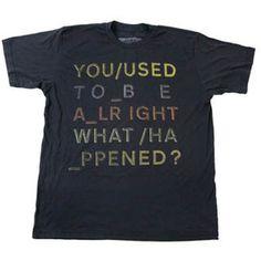 Radiohead t-shirt cut into vest