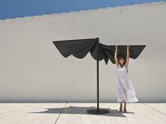 Runder Sonnenschirm aus Technischem Gewebe OM | Runder Sonnenschirm - calma