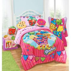 Shopkins Flag Bunting Twin/Full Comforter - Walmart.com...lenessa's birthday present from mamaw and pappy