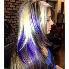 black blonde purple blue hair ... absolutely love!