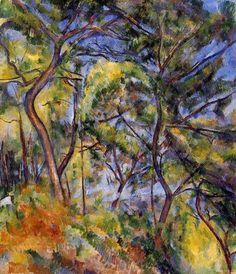 Forest by Paul Cezanne