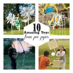10  Amazing Kids Toys to Make with PVC Pipes  http://spoonful.com/crafts/10-amazing-kids-toys-to-make-from-pvc-pipes?cmp=SMC|spoon|soc|FB|Main|InHouse|042613|Photo||famE|Social||_campaign=spooneditors_source=facebook.com_medium=referral