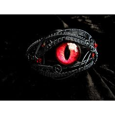 Custom Gothic Steampunk Art Bracelet -Dragon Cat Evil Eye ❤ liked on Polyvore featuring jewelry, bracelets, gothic jewellery, evil eye bangle, steampunk jewellery, gothic jewelry and steam punk jewelry