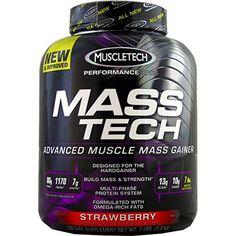 Muscletech Masstech Performance Supplement, Strawberry, 7 Pound ( Multi-Pack)