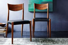 West Elm Tate Leather Dining Chair Obsidian Leather at Arnotts. Furniture Styles, Dining Furniture, Home Furniture, Urban Aesthetic, Leather Dining Chairs, West Elm, New Homes, Dining Room, House