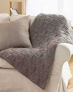 Basketweave Blanket, free pattern (archived) by Bernat Design Studio.  Uses alternating FPDC & BPDC to achieve this pretty texture - easy.   Ravelry Project Gallery at this link ~ http://www.ravelry.com/patterns/library/basketweave-blanket-archive   #crochet #afghan #throw