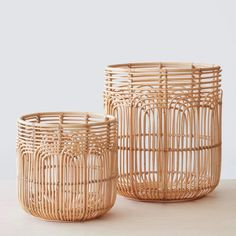 """Rattan is such a light and pretty material and it doesn't need to be overly boho to be cute. You might hear the words """"rattan"""" and """"wicker"""" used synonymously. Fun fact - rattan is a material and wicker is a style of weave! Home Decor Accessories, Decorative Accessories, Basket Lighting, Rattan Basket, Rattan Planters, Rattan Stool, Bamboo Basket, Boho Living Room, Rattan Furniture"""