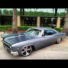 66 impala #BecauseSS rides cars car porn cargramm instacars cars daily 1966 grey slammed tucked