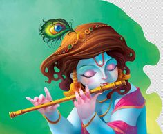 It's a page of a book about Lord Krishna (a hindu God). I have created the harmony within Indian ancient traditional arts. I took the references from Kishangarh Paintings century), Chola Scul. Lord Krishna Wallpapers, Radha Krishna Wallpaper, Lord Krishna Images, Radha Krishna Pictures, Little Krishna, Cute Krishna, Shiva Art, Hindu Art, Krishna Painting