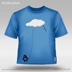 Der hinterlistige Wolkendieb Kids Fashion, Crop Tops, Mens Tops, T Shirt, Clouds, Kids, Supreme T Shirt, Tee Shirt, Junior Fashion