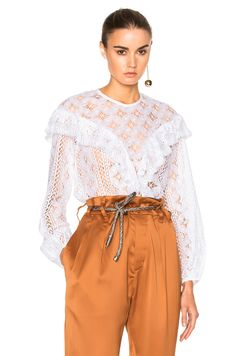 Image 1 of Rodebjer Mikayla Lace Top in White