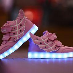 Bebe Zapatos LED Remache Rosa