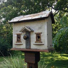 Custom Colonial Birdhouse Rebecca's Bird Gardens