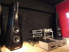 YG Acoustic Sonja 1.3 speakers driven by Goldmund and Spectral electronics.