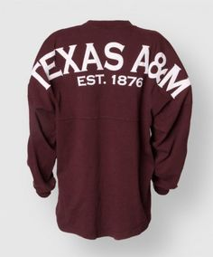 Show off your Aggie pride in comfort with this vintage inspired oversized spirit jersey. Made of 100% soft cotton thick jersey material righ...