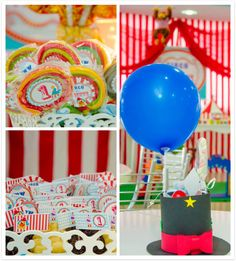 Circus B-day Party. To inspire. Circo Vintage, Baby Boy Birthday, I Party, Bernardo, Inspire, Personalized Flags, Personalized Ornaments, Bunting Garland, Ideas Party