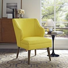 Modway Swell Fabric Armchair in Sunny