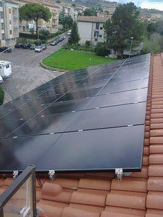Due impianti fotovoltaici ad ANCONA da 4,00 kWp e 3,00 kWp su copertura - 24 + 18 moduli SOLAR FRONTIER in CIS da 165 Wp - UTILIZZO di OTTIMIZZATORI di POTENZA (SOLAREDGE)