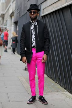 Pink pants Men's outfit