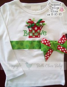 Christmas Shirt without the ribbon across