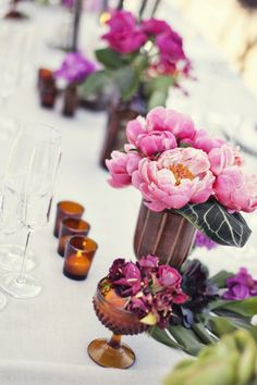 Morrocan inspired peony centerpiece: